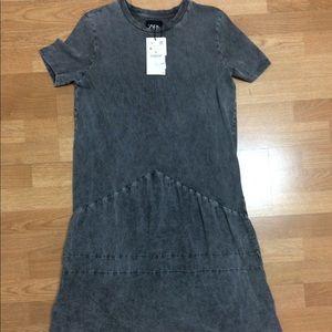 Zara washed gray dress